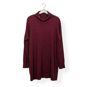 Eileen Fisher Merino Wool Cowl Neck Sweater Tunic